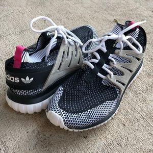 Adidas Tubular Nova PK Black Pink 9.5 Knit White